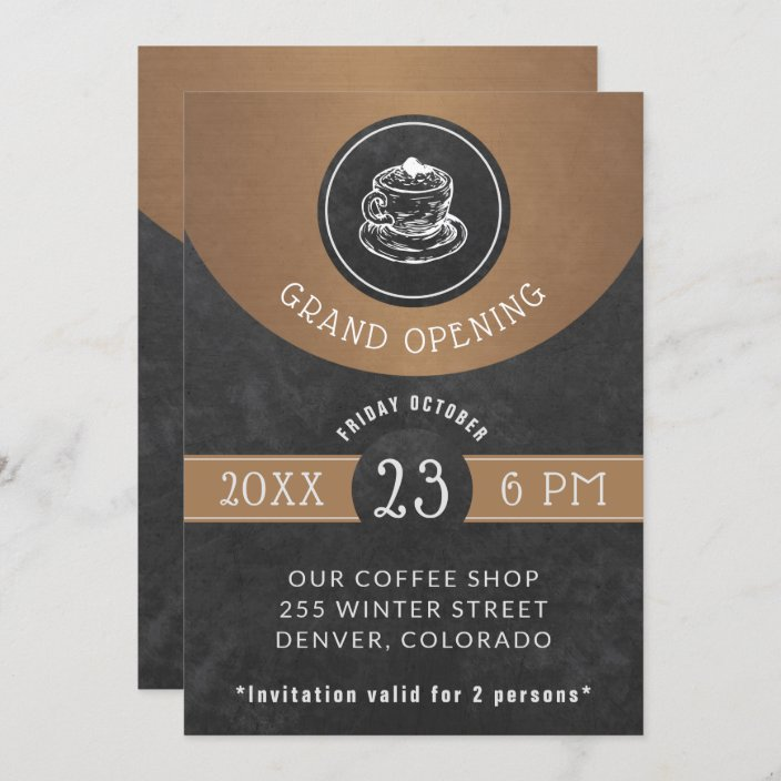 restaurant grand opening elegant chalkboard invitation zazzle com