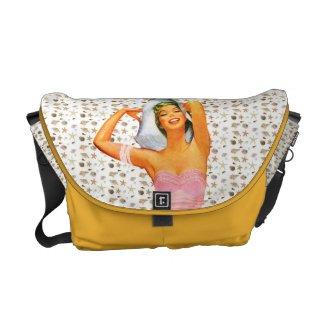 Retro 1950s Beach Beauty Courier Bag