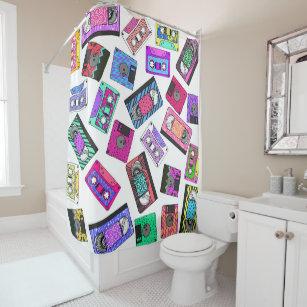 80s shower curtains zazzle