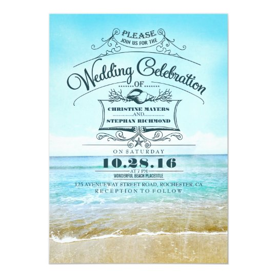 Beach Theme Wedding Invitations As Your Exle In Making The Invitation Card Has An Awesome Design 17