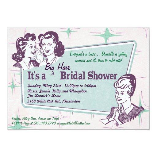 retro beehive hairdo-big hair bridal