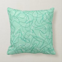 Retro Boomerang Pillow - Jade Green | Zazzle.com