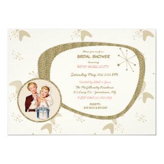 Retro Bridal Wedding Shower Invitation Any Colors 50 S