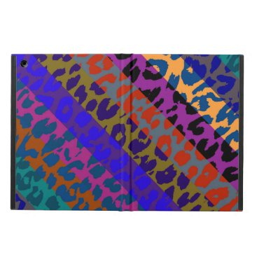 Retro Colorful Leopard Print Stripe Pattern Cover For iPad Air