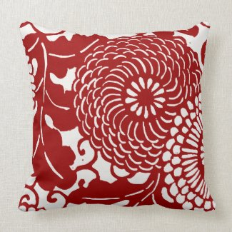 Retro Floral Pattern throwpillow