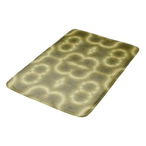 Retro Green and Gold Bathroom Mat