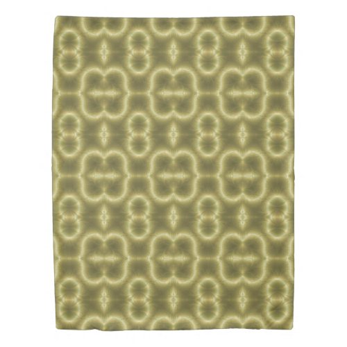 Retro Green and Gold Duvet Cover