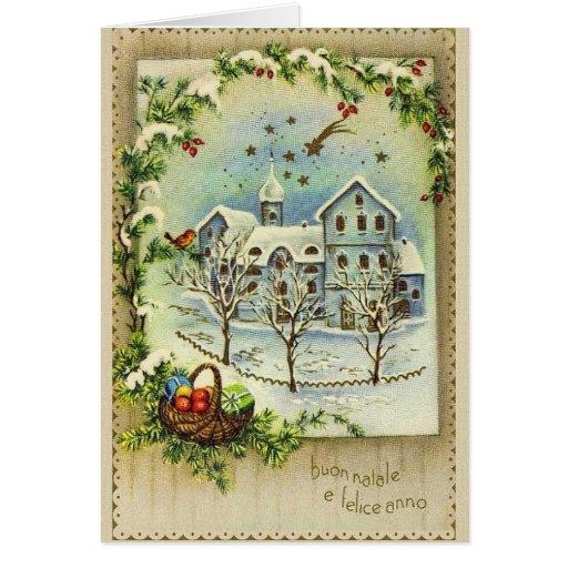Retro Italian Christmas And New Year Card Zazzle