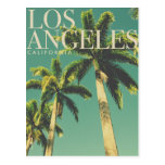 Retro Los Angeles California Poster Postcard