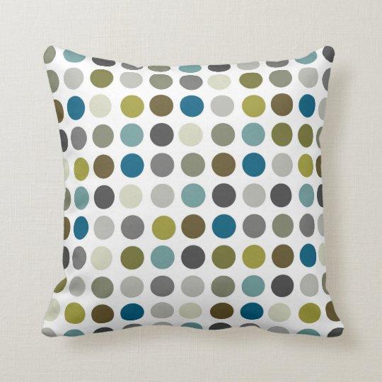Retro Mod Polka Dot Pattern Throw Pillow  Zazzlecom