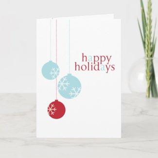 Retro Modern Holiday Ornaments Card card