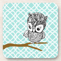 Retro Owl Set of 6 Coasters