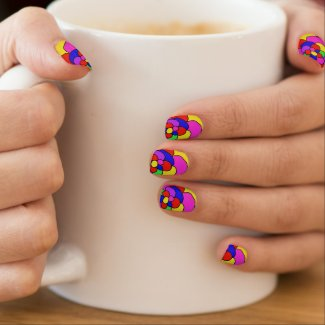 Retro petals fingernail decal