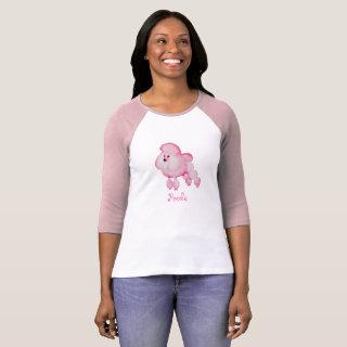 Retro Pink Poodle T-shirt