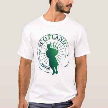 Retro Scotland Green Postage Seal T-Shirt