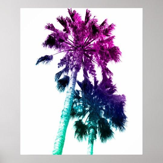 Retro Vintage Ombre Pop Art Palm Tree Print  Zazzlecom