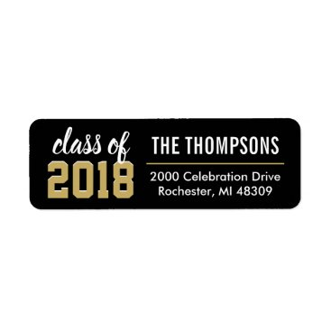 Return Address Labels | Class of 2018