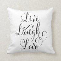 Live Laugh Love Pillows