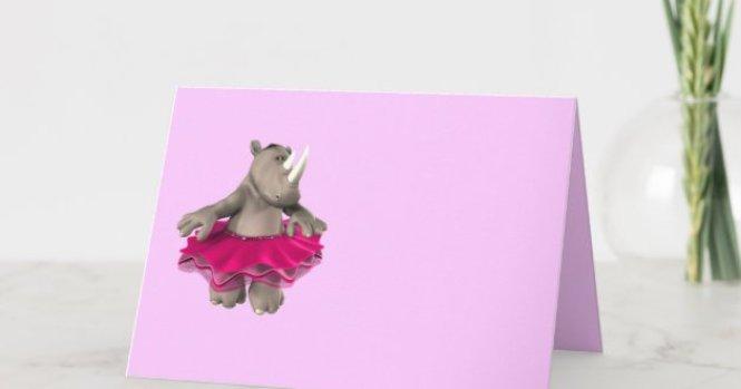 Rhino Blank Baby Shower Invitation Card Zazzle Com