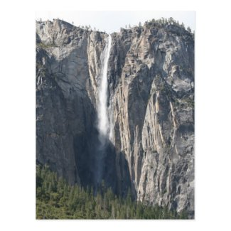 Ribbon Fall Waterfall in Yosemite Park Post Card