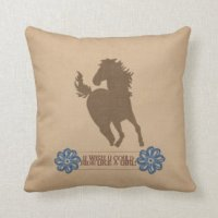 Riding Horse Pillows - Decorative & Throw Pillows | Zazzle
