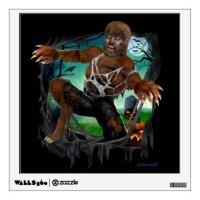 RIP ROARING WEREWOLF WALL STICKER | Zazzle