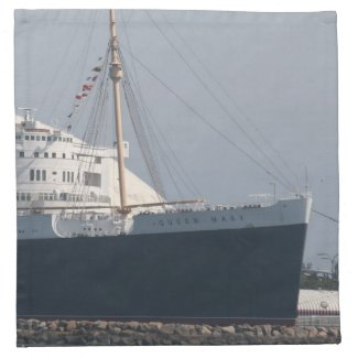 RMS Queen Mary Hotel and Museum in Long Beach Cloth Napkin