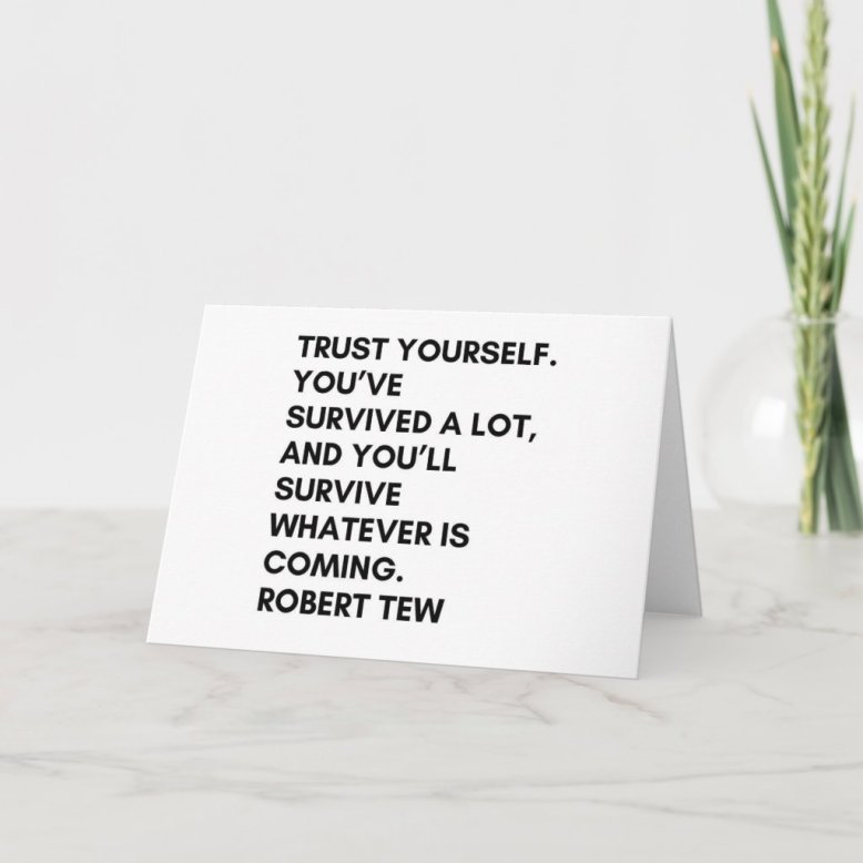 Robert Tew - Motivational Greeting Cards