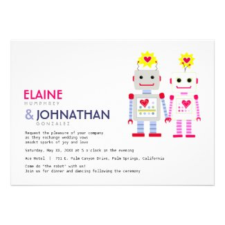 Robot Wedding Invitation