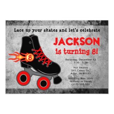 Roller Skate Extreme Boy's Birthday Invitation