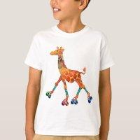 Roller Skating Giraffe T-Shirt | Zazzle