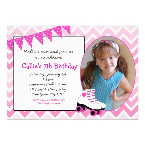 personalized roller skate invite invitations custominvitations4u com