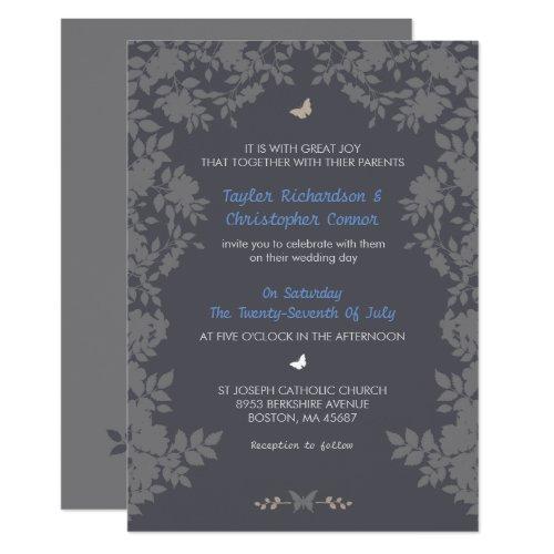 Romantic Flower Border | Wedding Invitations