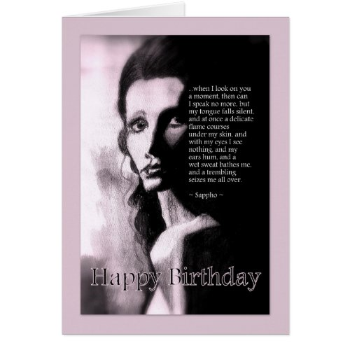 Romantic Happy Birthday For Him Sappho Poem card