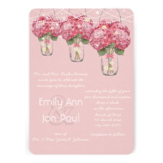 Romantic Pale Pink Mason Jar Firefly Wedding