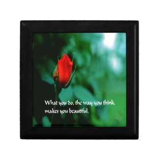 Romantic Quote Jewelry Box