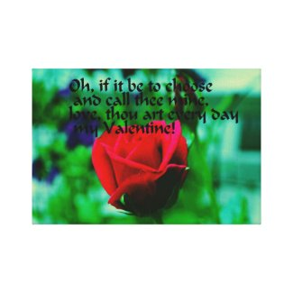 Romantic Valentine's Day Quote Stretched Canvas Print
