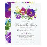 Romantic Violet Floral Bridal Shower Invitation