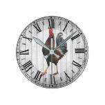 Rooster- Round (Medium) Wall Clock