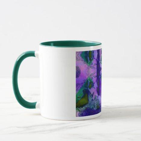Rose Birds – Violet & Pink Cycle Mug