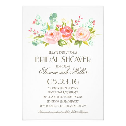 Rose Garden  Bridal Shower Card  Zazzle
