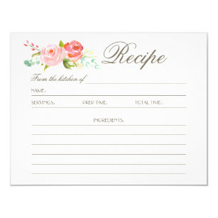 Recipe Cards - Greeting & Photo Cards | Zazzle
