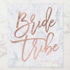 Redo My Kitchen Macy's Sets Rose Gold Typography Marble Bride Tribe Wine Label | Zazzle