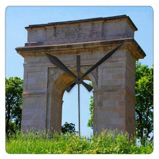 Rosedale World War I Memorial Arch, Kansas City Square Wall Clocks