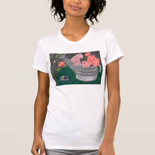 Roses In A Watering Can Shirt