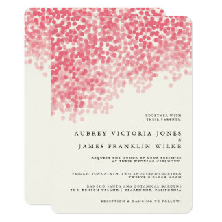 Pale Lily Pink Wedding Invitations Bordered