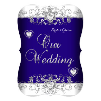 Mesmerizing Royal Blue And Silver Wedding Invitations 64 For Your Printable With