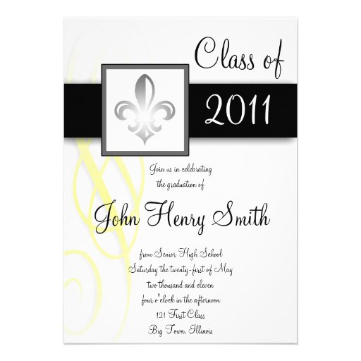 Royal High School Graduation Invitation 5