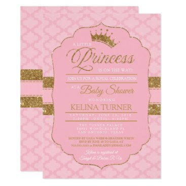 Royal Little Princess Baby Shower Invitation