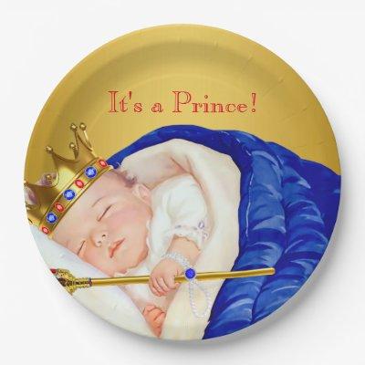 Royal Prince Baby Shower Plates